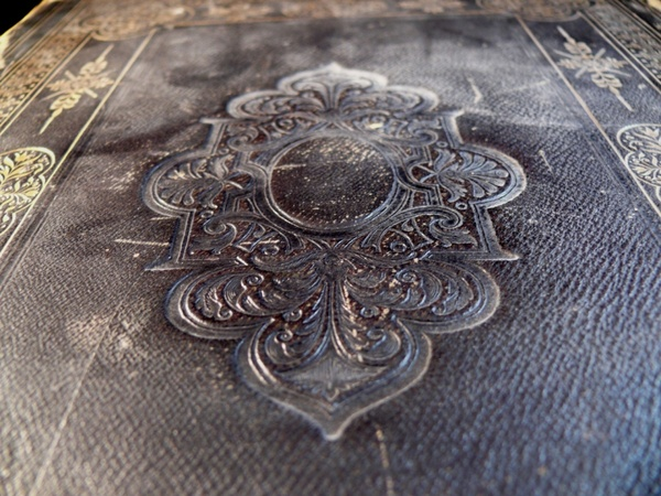 Old embossed book.